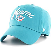 '47 Women's Miami Dolphins Melody Clean Up Adjustable Aqua Hat