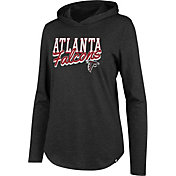 '47 Women's Atlanta Falcons Club Black Hooded Long Sleeve Shirt