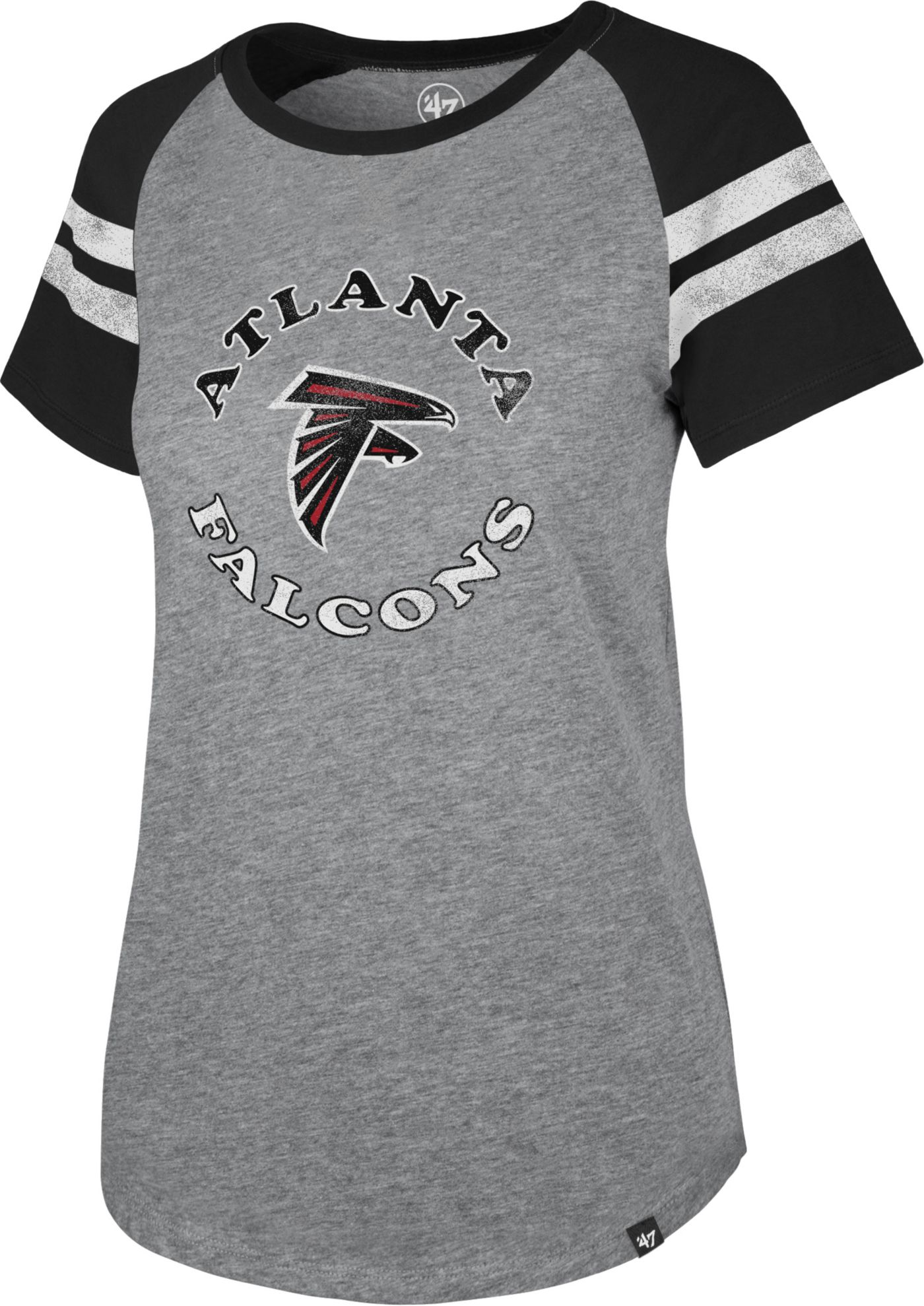 '47 Women's Atlanta Falcons Fly Out Raglan T-Shirt