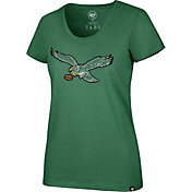 '47 Women's Philadelphia Eagles Historic Club Green T-Shirt