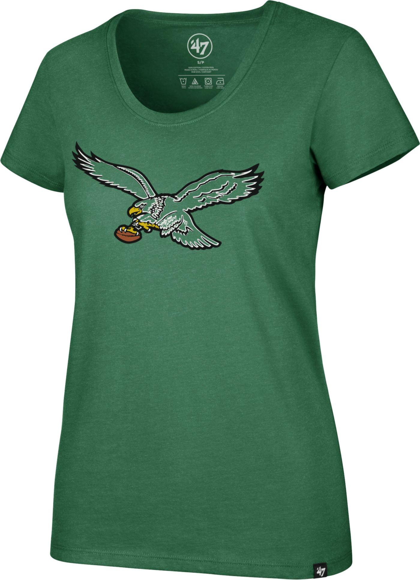 '47 Women's Philadelphia Eagles Historic Club Green T-Shirt