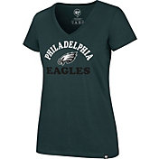 '47 Women's Philadelphia Eagles Ultra Rival Green V-Neck T-Shirt