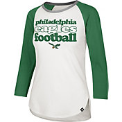 '47 Women's Philadelphia Eagles Retro Stock Throwback Raglan Shirt