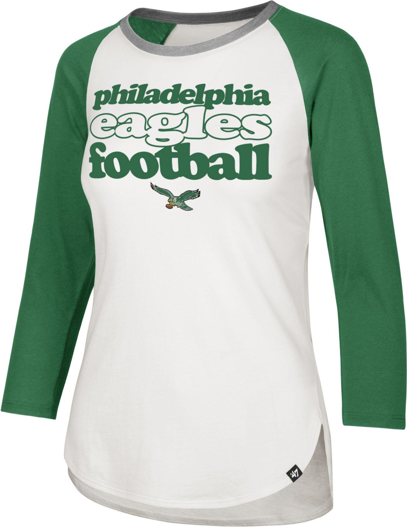 '47 Women's Philadelphia Eagles Retro Stock Throwback Raglan Shirt
