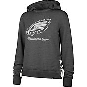 '47 Women's Philadelphia Eagles Side Lace Black Hoodie