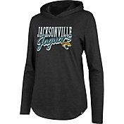 '47 Women's Jacksonville Jaguars Club Black Hooded Long Sleeve Shirt
