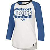 '47 Women's Detroit Lions Retro Stock Throwback Raglan Shirt
