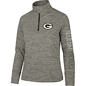 '47 Women's Green Bay Packers Impact Grey Quarter-Zip Pullover