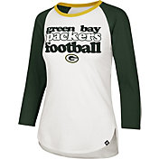 '47 Women's Green Bay Packers Retro Stock Throwback Raglan Shirt