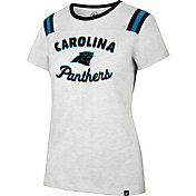 '47 Women's Carolina Panthers Huddle Grey T-Shirt