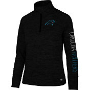 '47 Women's Carolina Panthers Impact Grey Quarter-Zip Pullover
