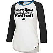 '47 Women's Carolina Panthers Retro Stock Throwback Raglan Shirt