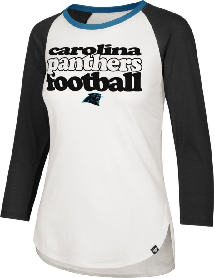 half off 06a98 69c9a '47 Women's Carolina Panthers Retro Stock Throwback Raglan Shirt