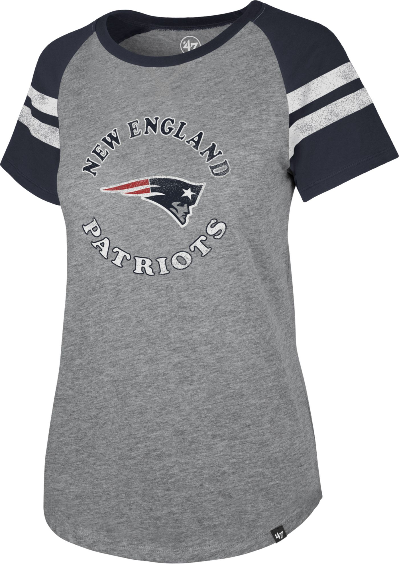 '47 Women's New England Patriots Fly Out Raglan T-Shirt
