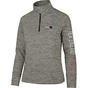 '47 Women's New England Patriots Impact Grey Quarter-Zip Pullover