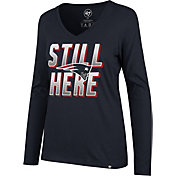 '47 Women's New England Patriots Still Here Navy Long Sleeve Shirt