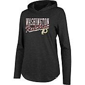 '47 Women's Washington Redskins Club Black Hooded Long Sleeve Shirt