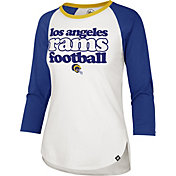 '47 Women's Los Angeles Rams Retro Stock Throwback Raglan Shirt