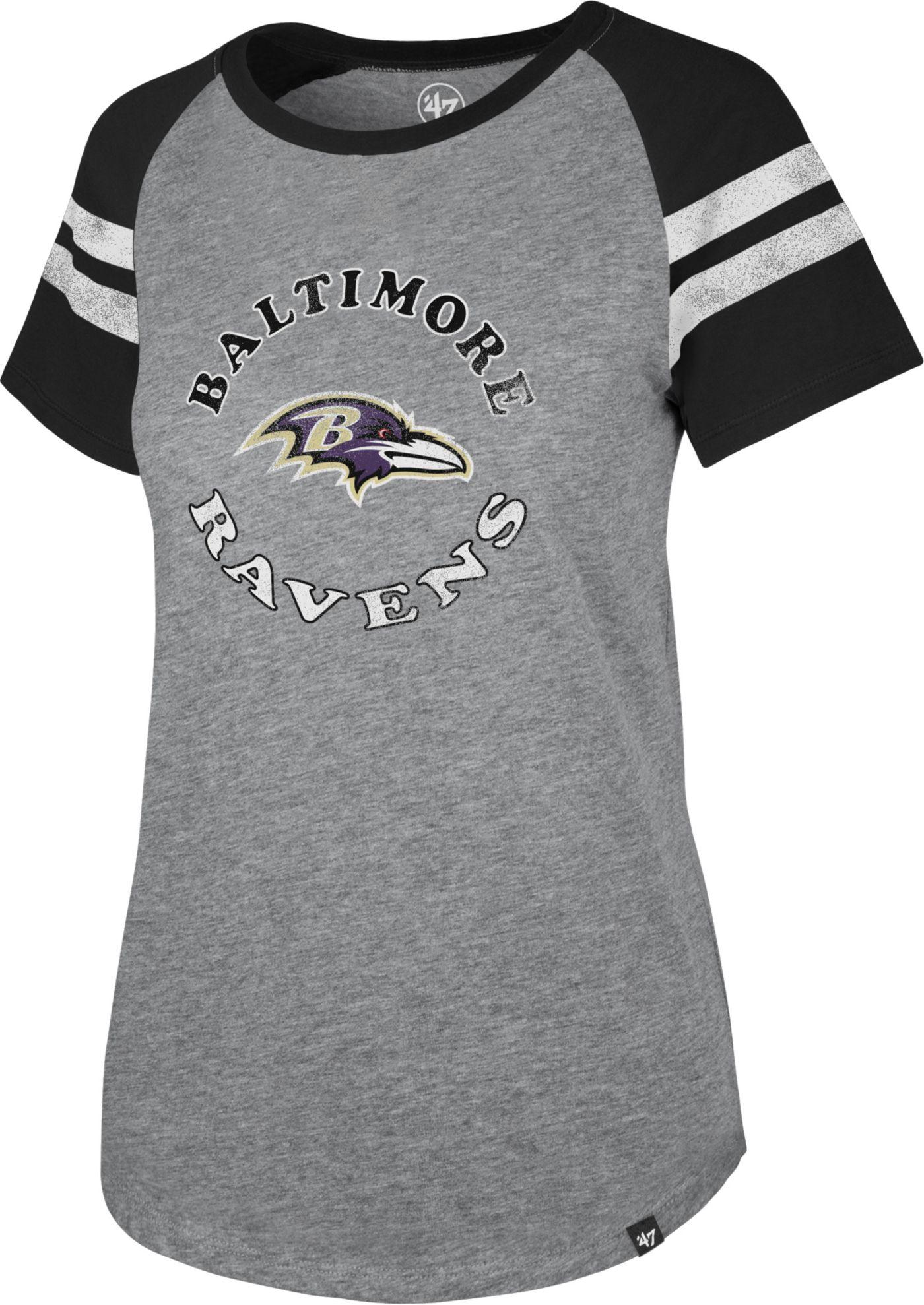 '47 Women's Baltimore Ravens Fly Out Raglan T-Shirt