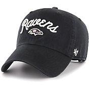 '47 Women's Baltimore Ravens Melody Clean Up Adjustable Black Hat