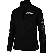 '47 Women's Baltimore Ravens Impact Grey Quarter-Zip Pullover