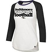 '47 Women's Baltimore Ravens Retro Stock Throwback Raglan Shirt