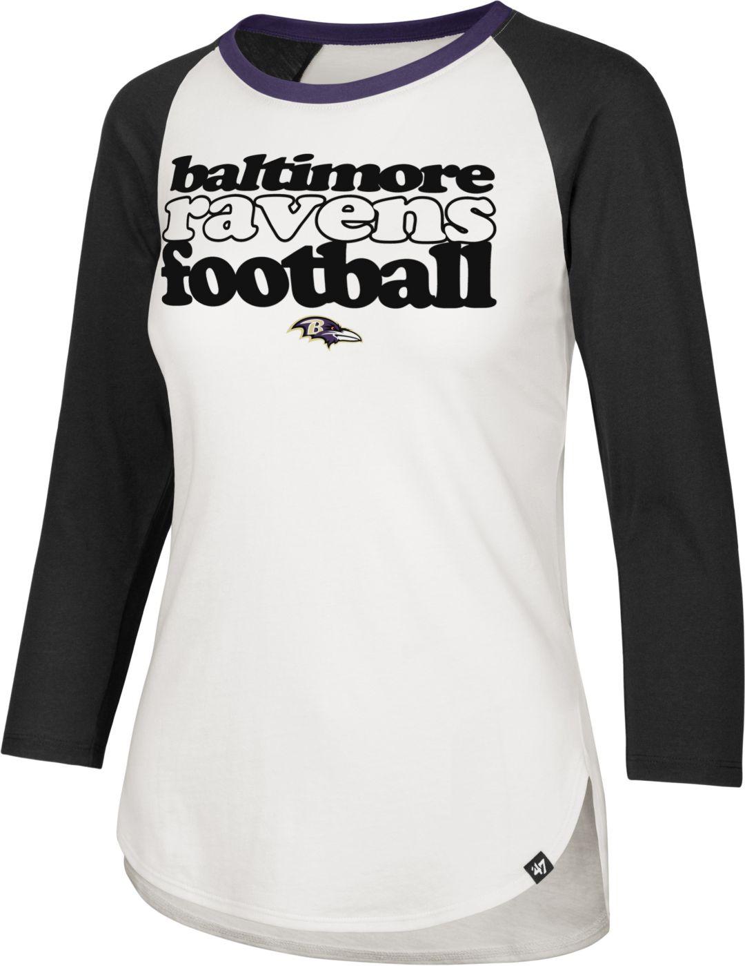 8c56ffdb '47 Women's Baltimore Ravens Retro Stock Throwback Raglan Shirt