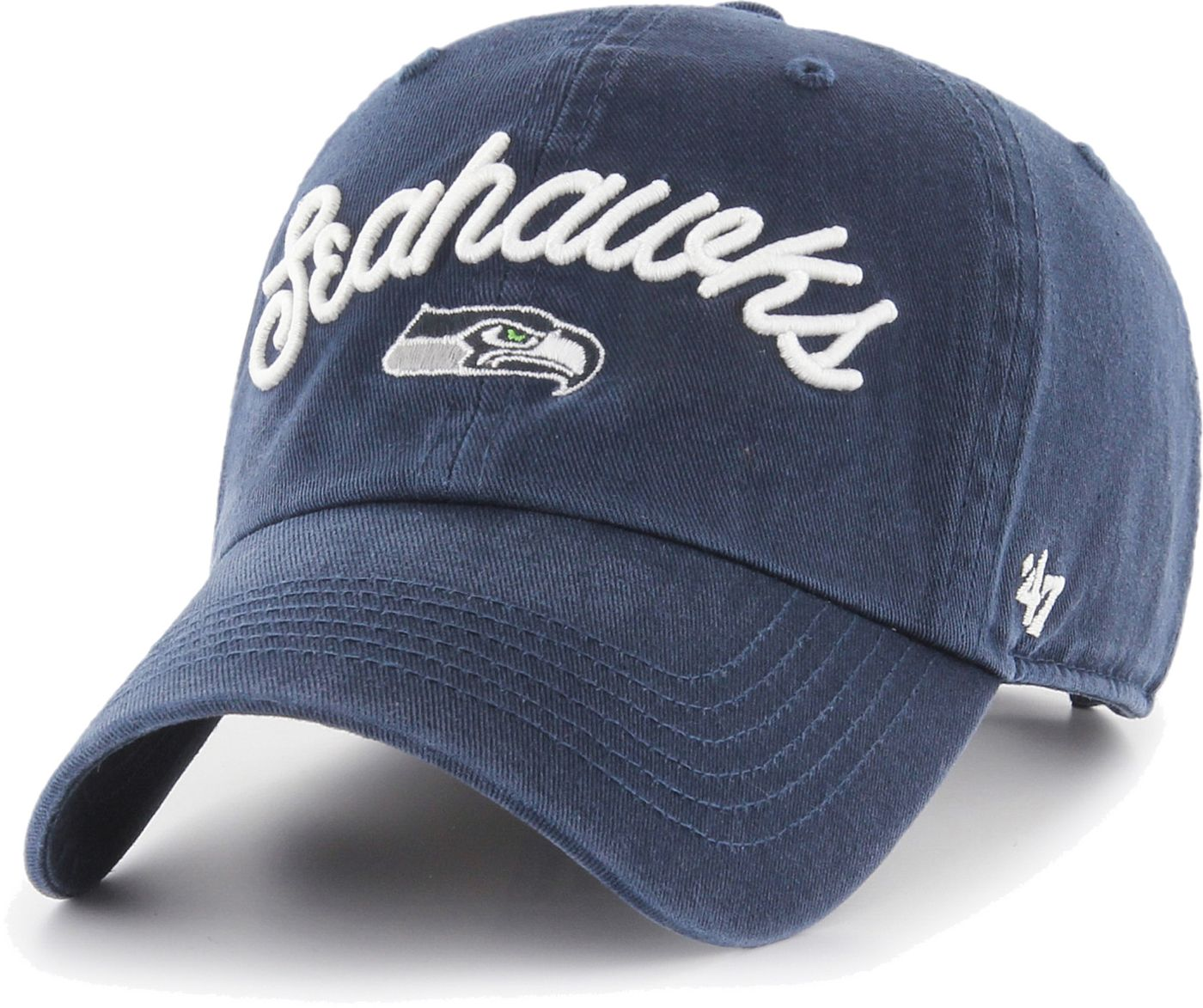 '47 Women's Seattle Seahawks Melody Clean Up Adjustable Navy Hat