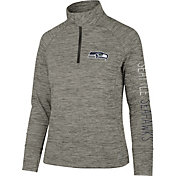 '47 Women's Seattle Seahawks Impact Grey Quarter-Zip Pullover