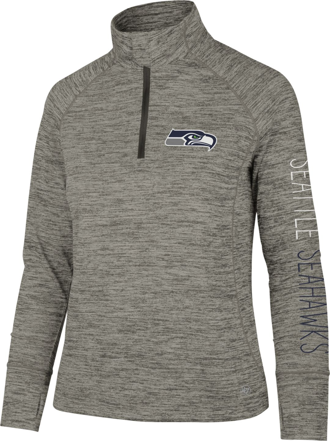 separation shoes 1fede 946f3 '47 Women's Seattle Seahawks Impact Grey Quarter-Zip Pullover