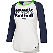 '47 Women's Seattle Seahawks Retro Stock Throwback Raglan Shirt