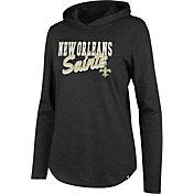 '47 Women's New Orleans Saints Club Black Hooded Long Sleeve Shirt