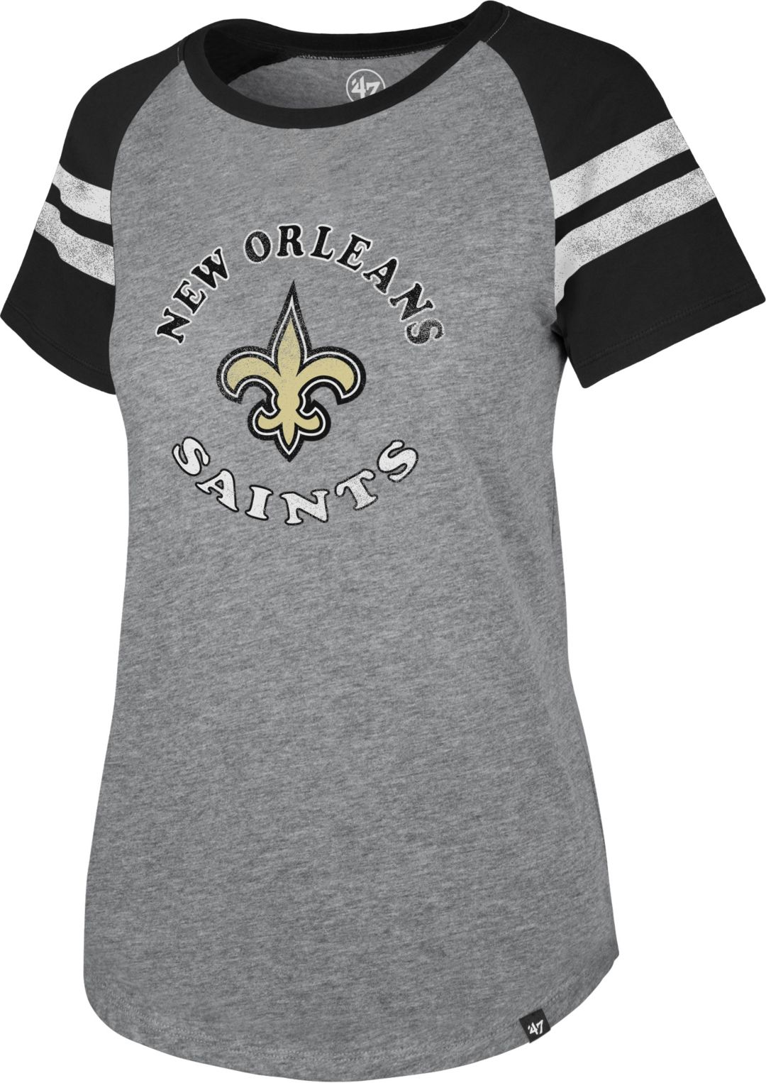 607a6853 '47 Women's New Orleans Saints Fly Out Raglan T-Shirt
