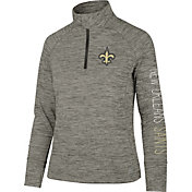 '47 Women's New Orleans Saints Impact Grey Quarter-Zip Pullover