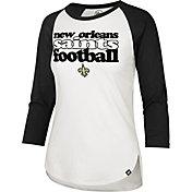 '47 Women's New Orleans Saints Retro Stack Raglan Shirt