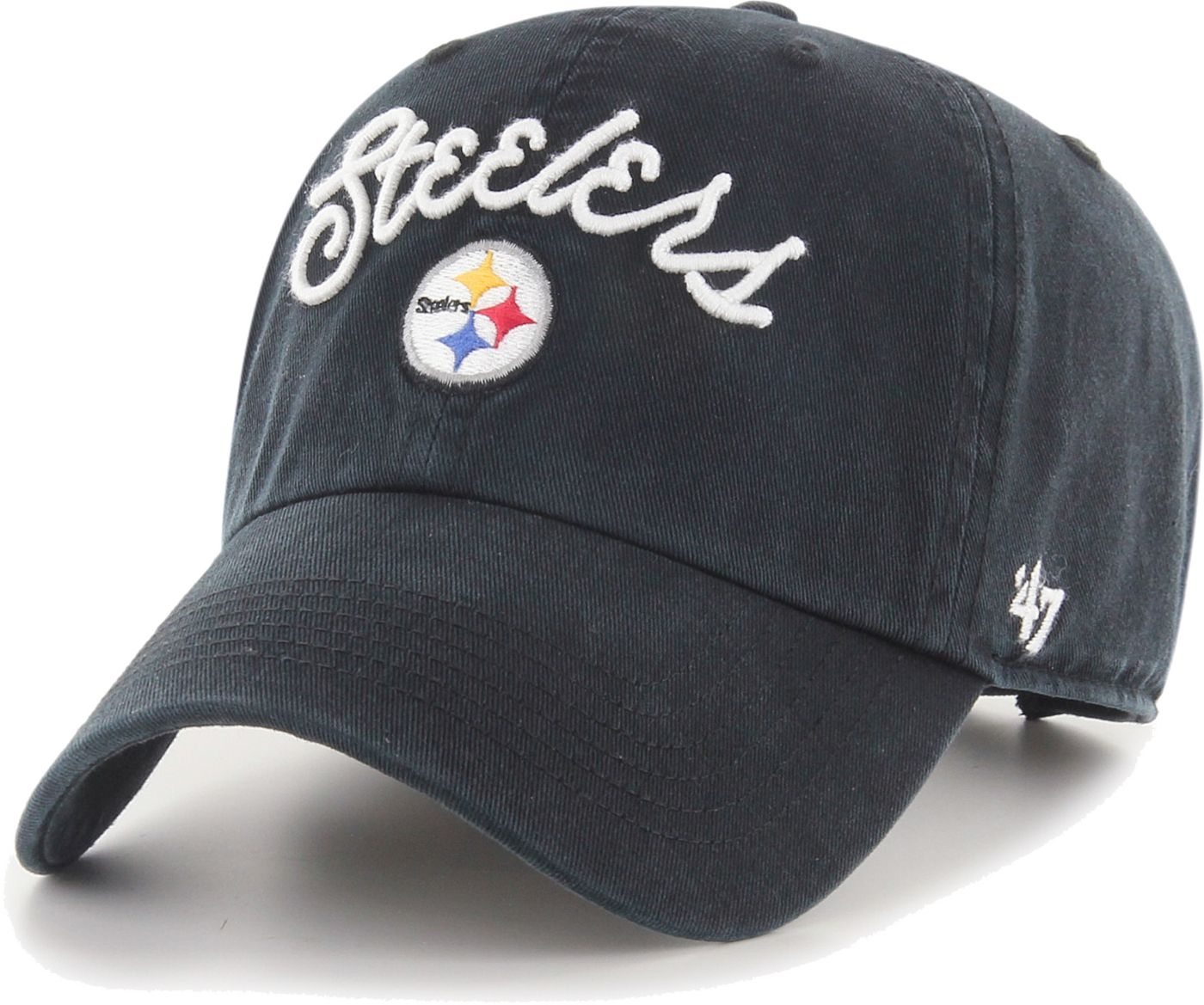 '47 Women's Pittsburgh Steelers Melody Clean Up Adjustable Black Hat