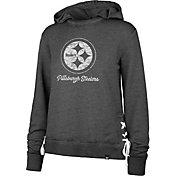 '47 Women's Pittsburgh Steelers Side Lace Black Hoodie