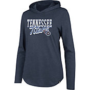 '47 Women's Tennessee Titans Club Navy Hooded Long Sleeve Shirt