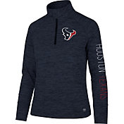 '47 Women's Houston Texans Impact Grey Quarter-Zip Pullover