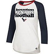 '47 Women's Houston Texans Retro Stock Throwback Raglan Shirt