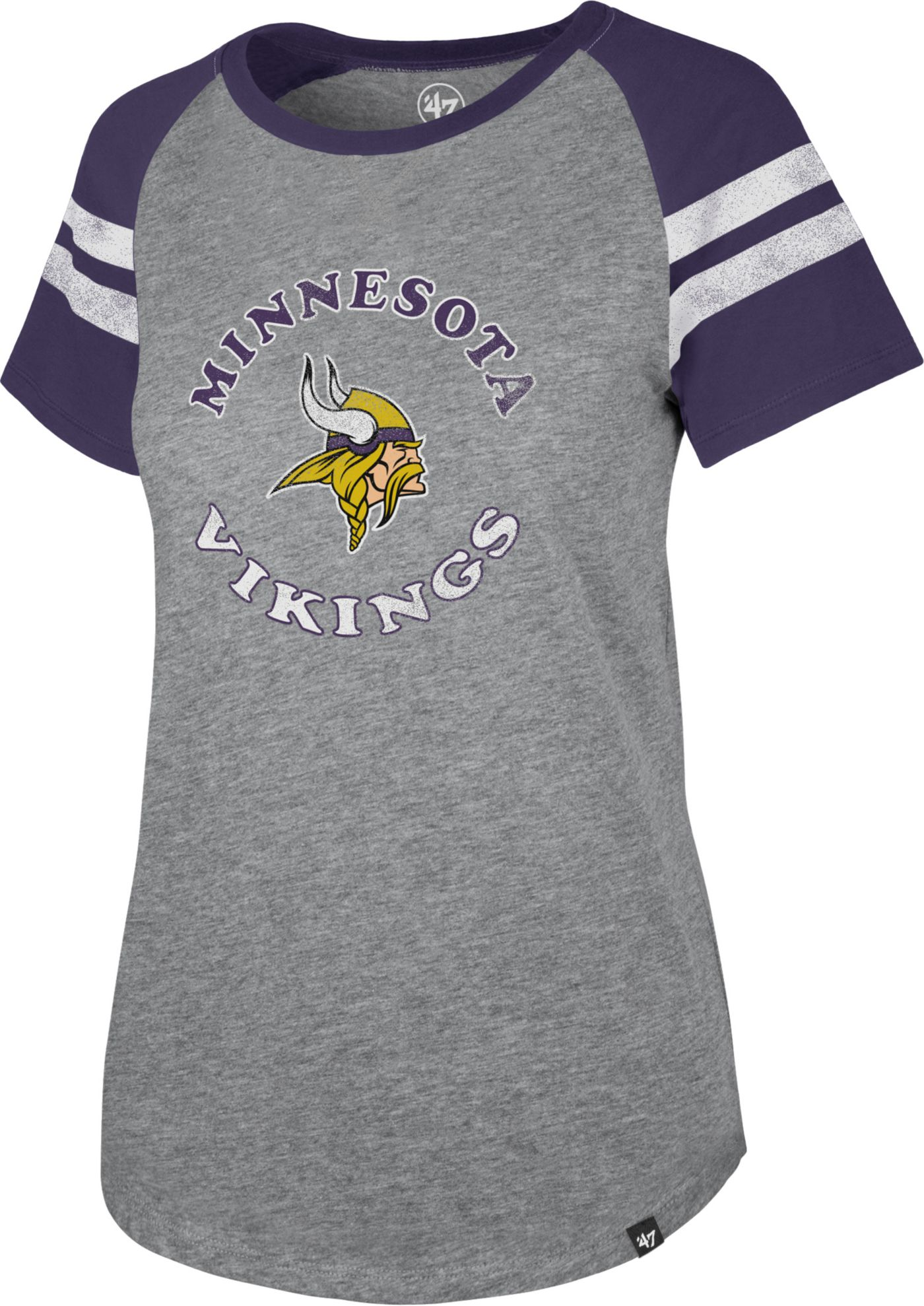 '47 Women's Minnesota Vikings Fly Out Raglan T-Shirt