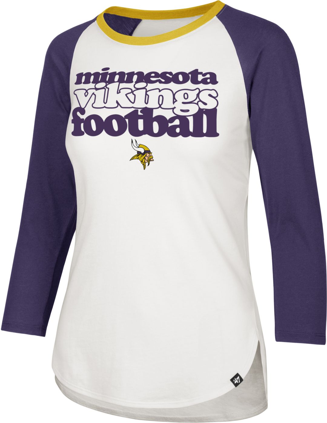 competitive price 25260 05664 '47 Women's Minnesota Vikings Retro Stock Throwback Raglan Shirt