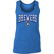 New Era Women's Milwaukee Brewers Tri-Blend Tank Top