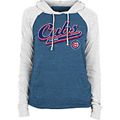 New Era Women's Chicago Cubs Blue Tri-Blend Pullover Hoodie