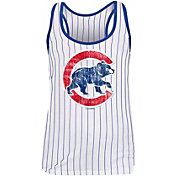 New Era Women's Chicago Cubs Pinstripe Tri-Blend Tank Top