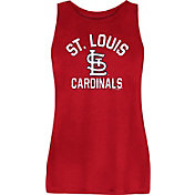 New Era Women's St. Louis Cardinals Red Rayon Spandex Tank Top