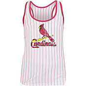 New Era Women's St. Louis Cardinals Pinstripe Tri-Blend Tank Top