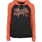 New Era Women's San Francisco Giants Black Tri-Blend Pullover Hoodie