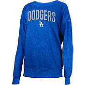 New Era Women's Los Angeles Dodgers Royal Mineral Wash Pullover Shirt