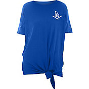 New Era Women's Los Angeles Dodgers Blue Slub Side Tie T-Shirt